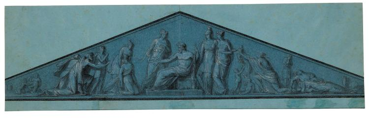 ATTRIBUTED TO AUGUSTIN-FÉLIX FORTIN | Asclepius Receiving the Sick (Project for the Façade of the Hôtel-Dieu, Paris?)