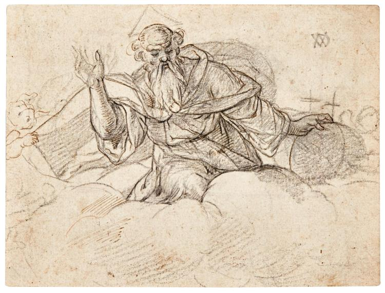 ATTRIBUTED TO PETER DE WITTE, CALLED CANDID | God the father, among clouds