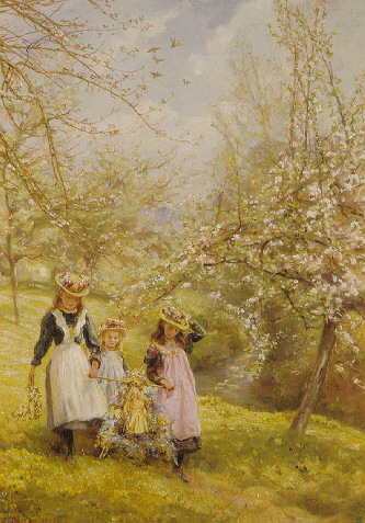 EDGAR BARCLAY (1842-POST 1913) MAY DAY
