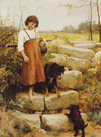 GEORGE HILLYARD SWINSTEAD (1860-1926) THE FIRST STEP