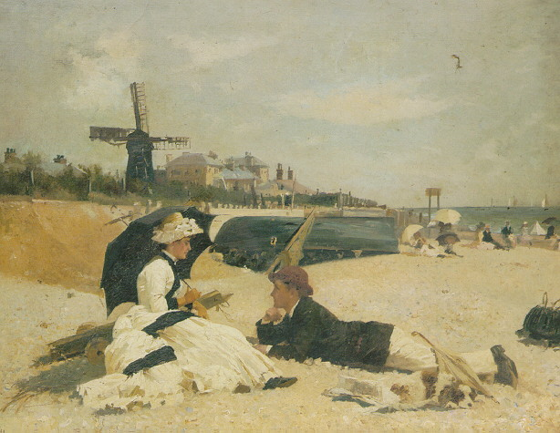 ALEXANDER M. ROSSI (FL.1870-1903) ON THE BEACH