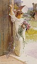 CARLTON ALFRED SMITH (1853-1946) A POSY FOR GRANDMA