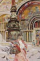 DAVID WOODLOCK (1842-1929) ST MARK'S SQUARE, VENICE, David Woodlock, Click for value