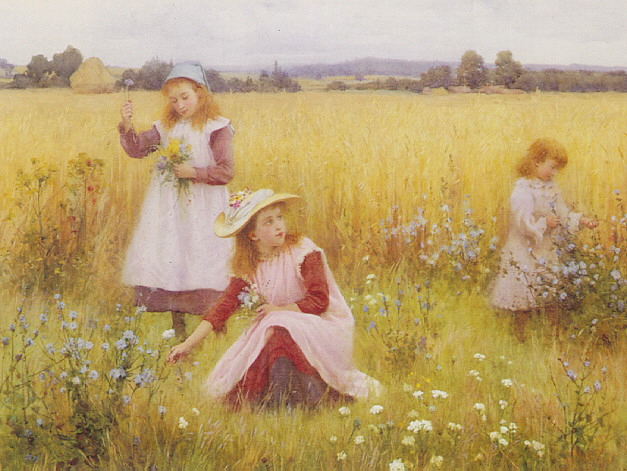 WILLIAM AFFLECK (B.1869 FL.1890-1915) GATHERING SUMMER FLOWERS