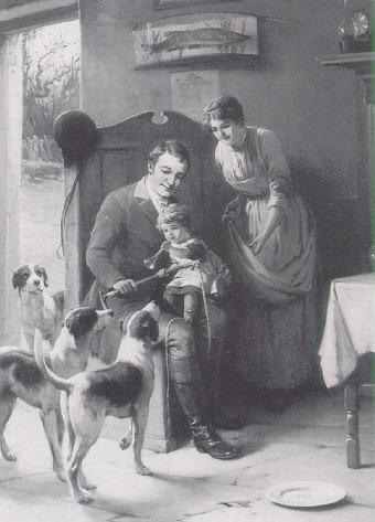 ALEXANDER ROSELL (1859-1922) THE HUNTSMAN'S FAMILY