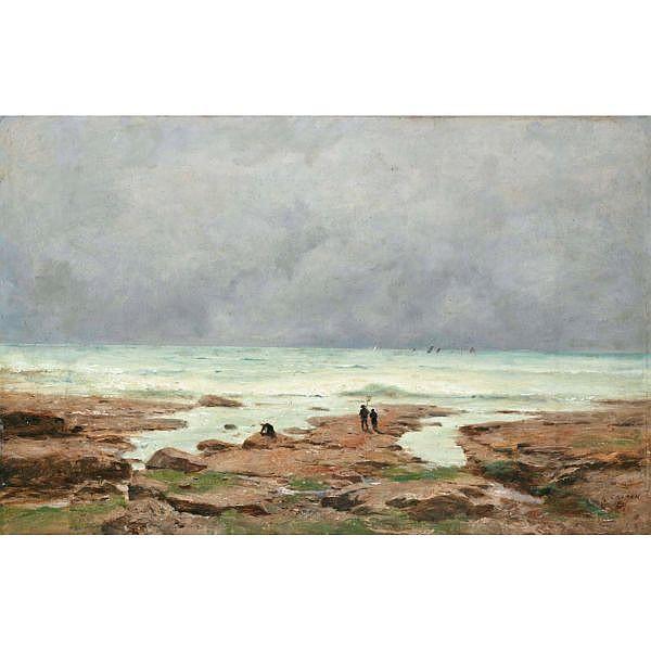 Gustave Castan 1823-1892 Öl auf Karton