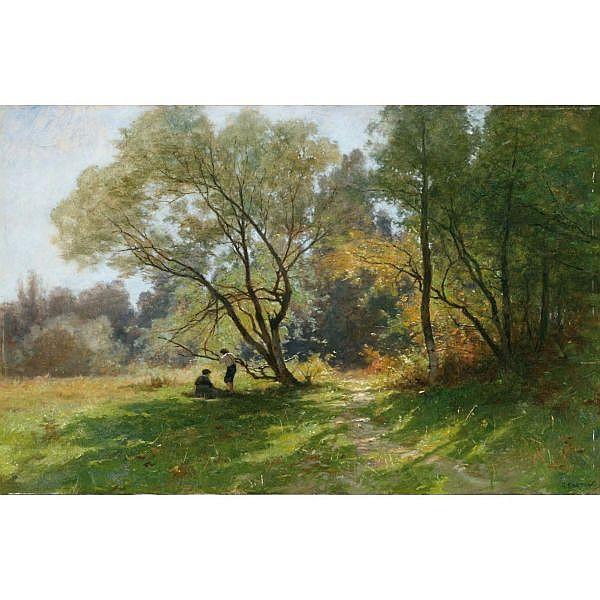 c - Gustave Castan 1823-1892 Öl auf Leinwand auf Holz