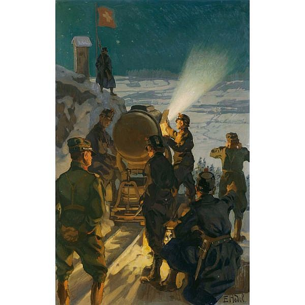 c - Ernst Hodel 1881-1955 Öl auf Holz