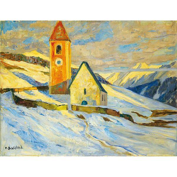 Hans Beat Wieland 1867-1945 Öl auf Leinwand