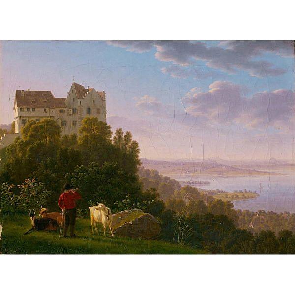 c - Johann Jakob Biedermann 1763 - 1830 Öl auf Leinwand