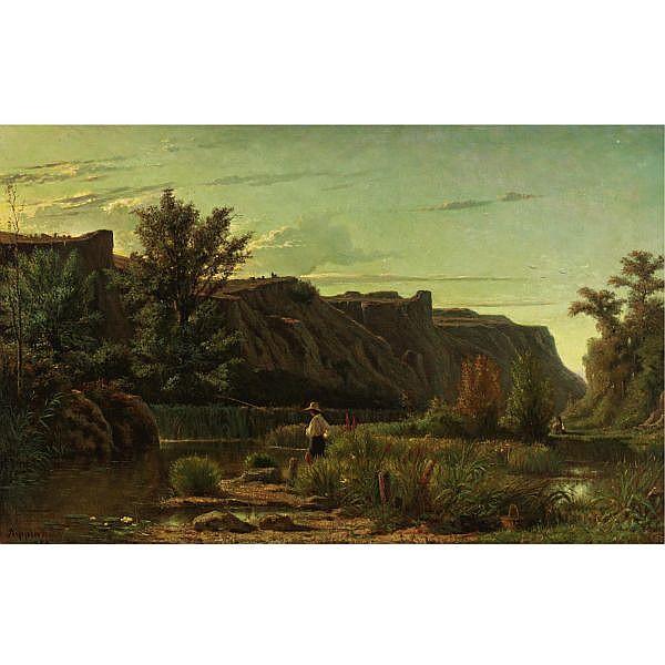 Adolphe Appian 1818-1898 , Le soir aux environs de Rix oil on canvas