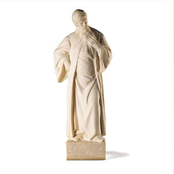 Philosophe dit Nathan le Sage, attribué à Adolf Jahn, 1858-1925 , A German marble figure of a Philosopher said to be Nathan the Wise, attributed to Adolf Jahn (1858-1925) marbre