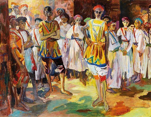 - Edouard-Léon-Louis Legrand dit Edy Legrand , Bordeaux 1892 - 1970 Bonnieux Jeunes danseurs Edy Legrand ; young dancers ; signed lower right ; oil on canvas Huile sur toile