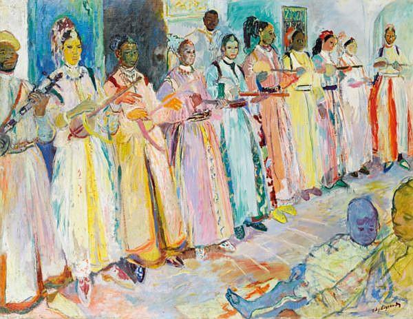 - Edouard-Léon-Louis Legrand dit Edy Legrand , Bordeaux 1892 - 1970 Bonnieux Femmes jouant de la musique Edy Legrand ; women playing music ; signed lower right ; oil on canvas Huile sur toile