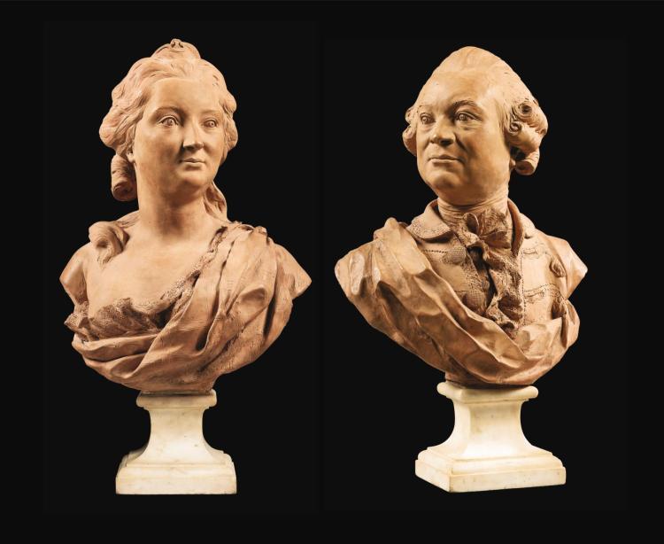 ATTRIBUÉ À JEAN-BAPTISTE BOUDARD, 1710-1768 PORTRAITD'UN COUPLE D'ARISTOCRATES | Portraitd'un Couple d'Aristocrates