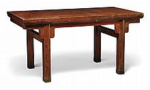 A RED LACQUER AND GILT LOW TABLE<BR>20TH CENTURY |