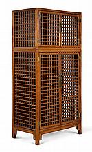 A 'HUALI' AND MIXED-WOOD OPENWORK COMPOUND CABINET<BR>19TH / 20TH CENTURY |