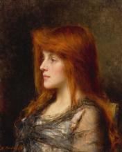 ALEXEI ALEXEEVICH HARLAMOFF | An Auburn HairedYoung Woman