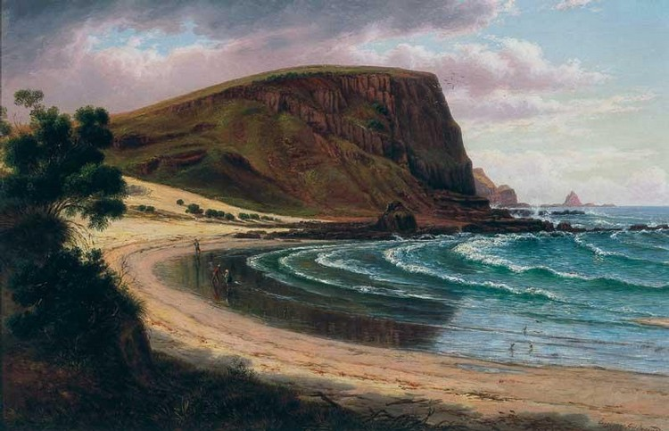 EUGENE VON GUERARD 1811-1901 ST AGNES HEAD, SOUTHERN SIDE OF PHILIP ISLAND