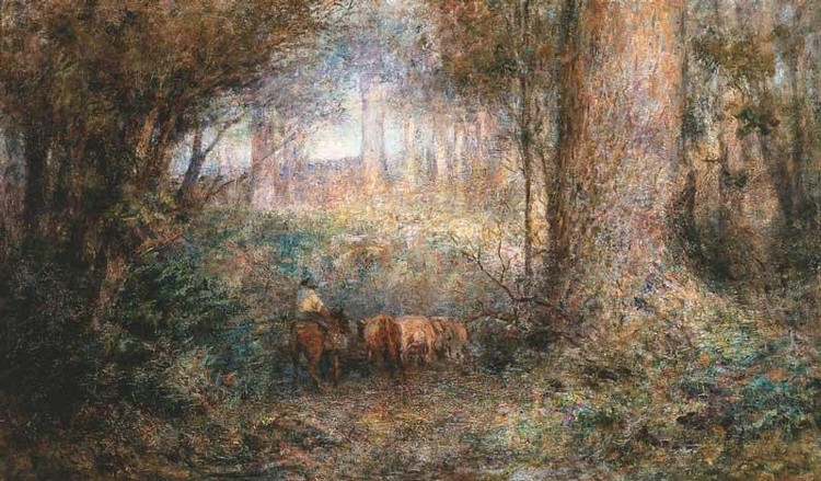 FREDERICK MCCUBBIN 1855-1917 EVENING IN THE BUSH
