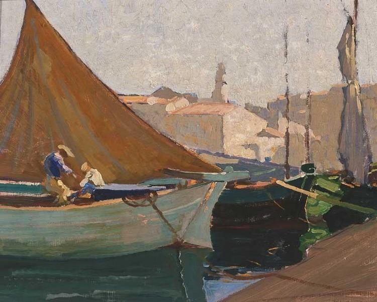ELIOTH GRUNER 1882-1939 PORT SAINT TROPEZ