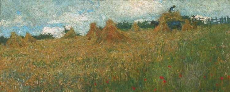 EMANUEL PHILLIPS FOX 1865-1915 THE CORN FIELD