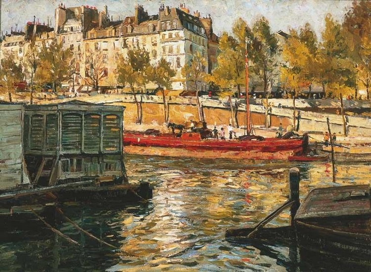 WILL ASHTON 1881-1963 SPRINGTIME, THE RIVER SEINE, PARIS