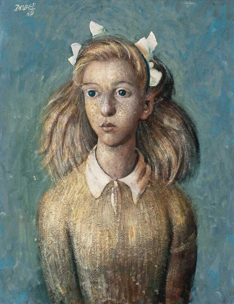 WILLIAM DOBELL 1899-1970 WANGI GIRL (RATTAILS)