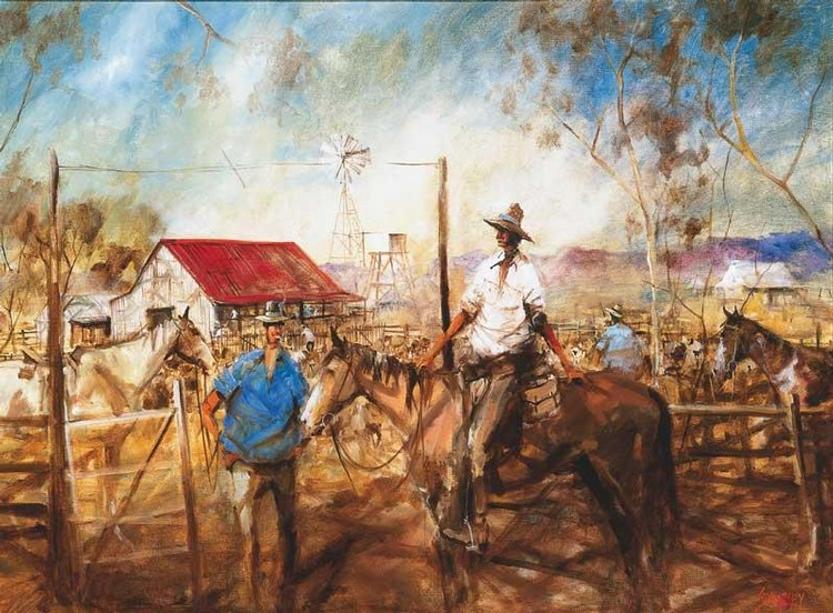 HUGH SAWREY 1923-1999 THE TAIL-END OF THE MOB, WEST QUEENSLAND
