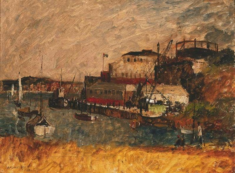 GEORGE FEATHER LAWRENCE 1901-1981 NEUTRAL BAY, SYDNEY HARBOUR