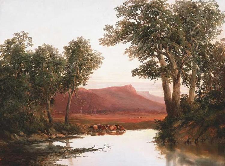 W. C. PIGUENIT 1863-1914 CUMMING'S PEAK, WESTERN BLUFF, TASMANIA