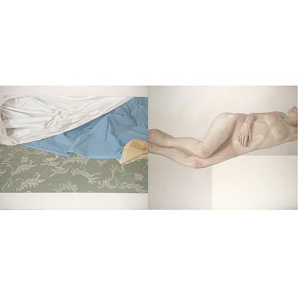 Alison Watt , Sleeper; Fragment II Oil