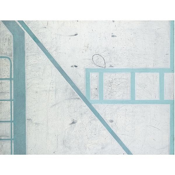 Prunella Clough , Small Gate Painting No.5 Oil