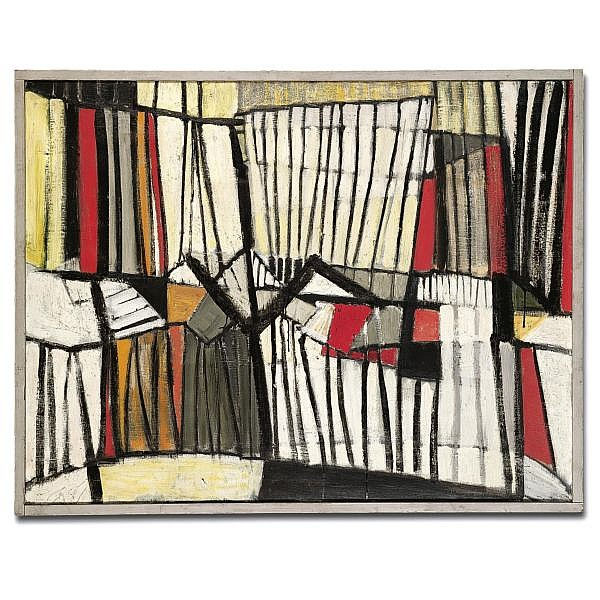 Sir Terry Frost, R.A. , Red, Black and White 1955-56 Other