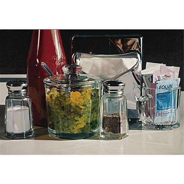 Ralph Goings , b. 1928 Relish oil on linen