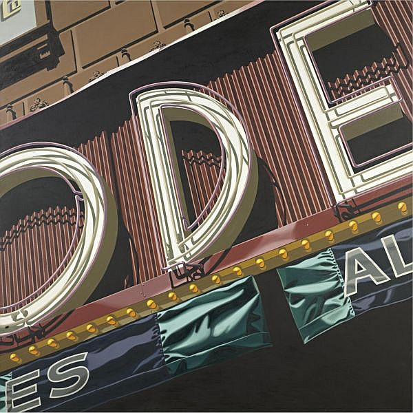 Robert Cottingham , b. 1935 Ode oil on canvas