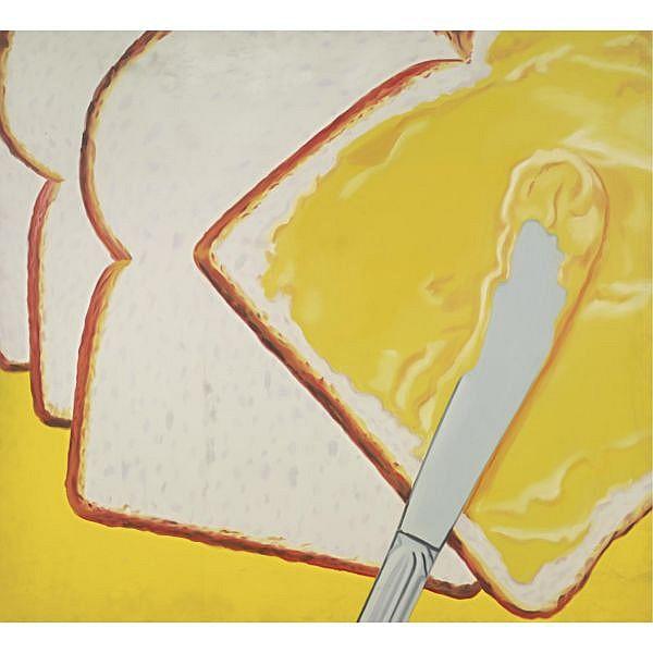 James Rosenquist , b. 1933 White Bread oil on canvas