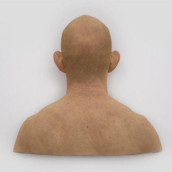 Evan Penny , b. 1953 Back of Jay silicone, pigment, hair and aluminum