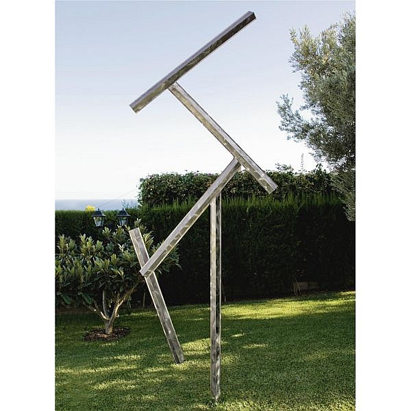 George Rickey , 1907-2002 One Fixed Four Jointed Lines Biased stainless steel