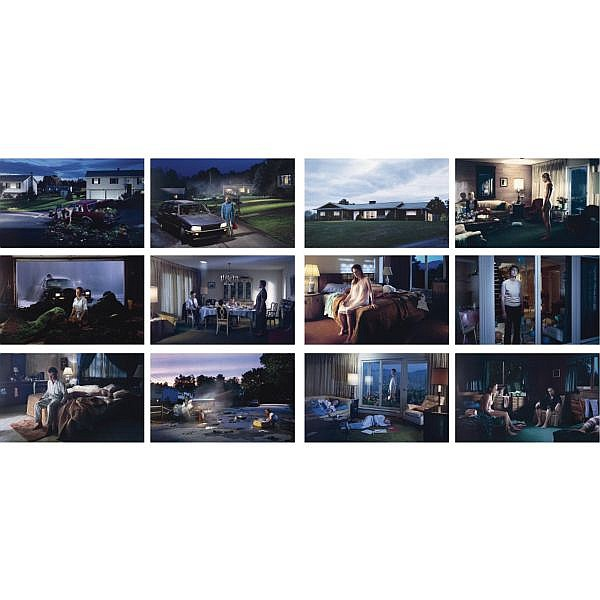 Gregory Crewdson , b. 1962 The Dream House Portfolio digital cibachrome print mounted to museum board, in 12 parts, plus justification page