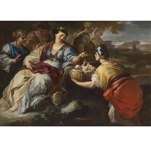 Francesco Solimena , Canale di Serino 1657 - 1747 Barra The Finding of Moses oil on canvas
