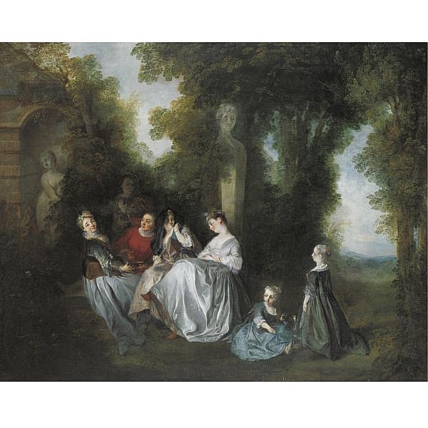 Nicolas Lancret , Paris 1690 - 1743 'Le Concert Pastoral' oil on canvas