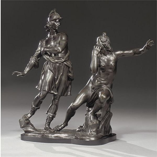 An Italian Bronze Group of Roger and Angelica, by Ferdinando Tacca (1619-1686)