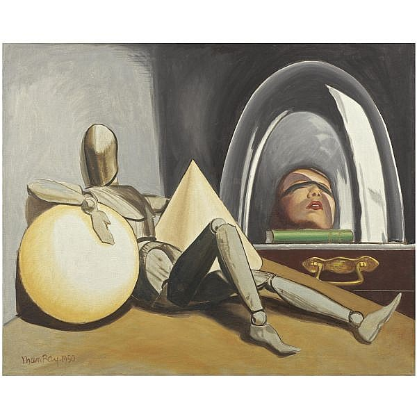 Man Ray , 1890-1976 ALINE ET VALCOUR oil on canvas