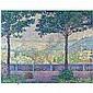 Paul Signac , 1863-1935 TERRASSE DE MEUDON oil on canvas, Paul Signac, Click for value