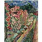 Hermann Max Pechstein , 1881-1955 GARTENRAND (GARDEN) oil on canvas, Max Pechstein, Click for value