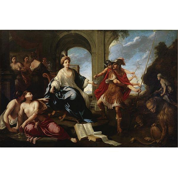 - Pier Francesco Cittadini , Milan 1616 - 1681 Bologna Circe and Odysseus oil on canvas