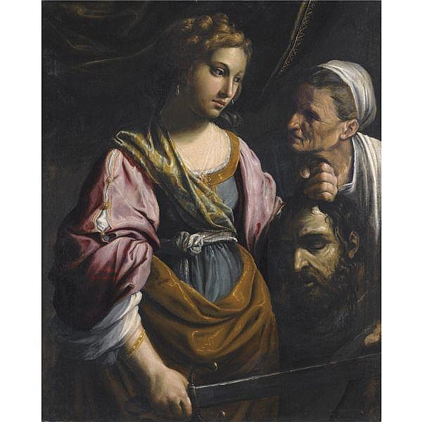 Giovanni Francesco Guerrieri , Fossombrone 1589 - 1655 Pesaro Judith with the head of Holofernes oil on canvas