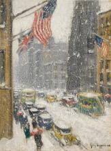 GUY CARLETON WIGGINS   Flags Up Fifth Avenue