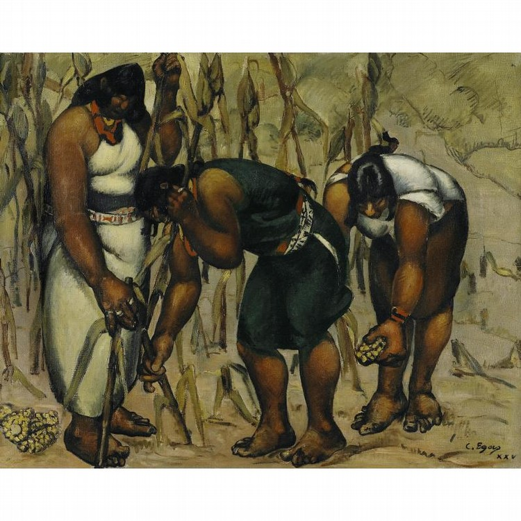 CAMILO EGAS (1889-1962) RAMASSAGE DE MAÏS
